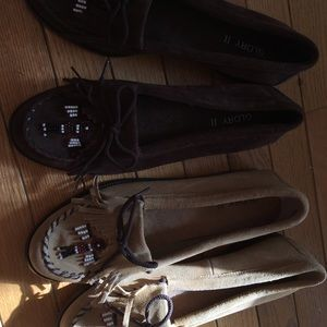 Shoes - Two pairs of women's size 11 moccasins